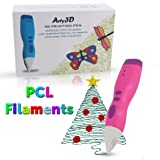 3D Printing Pen 3D Drawing Pen PCL Filaments Art and Craft Doodler Low Temperature Safe for Kids Modeling Pen Wireless USB Charging Clog Free Arty3D Pink (Color: Pink)