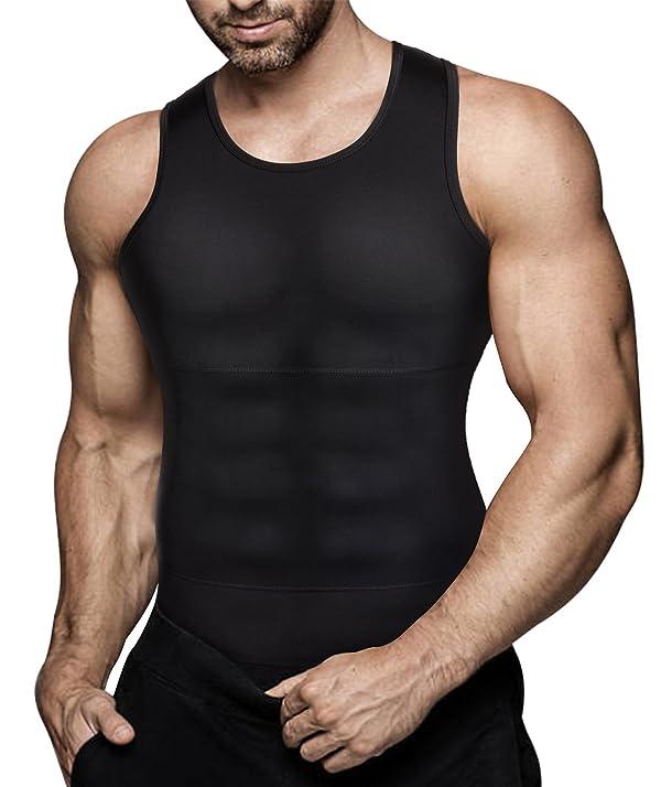 Men/'s Slimming Body Shaper Vest Abs Abdomen Shirt Tummy Control Loss Weight Tank