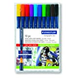 Staedtler Marsgraphic Duo Brush Markers, 3000WP10 (Color: Blue)