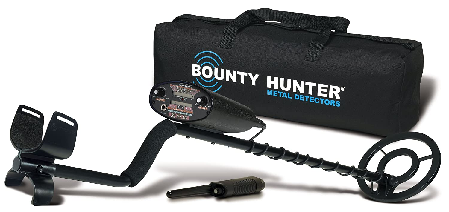 Bounty Hunter QD2GWP Quick Draw II Metal Detector with Pin Pointer and Carry Bag md3030 metal detector underground pinpointer nugget coin mine gold hunter bug pro gold digger finder