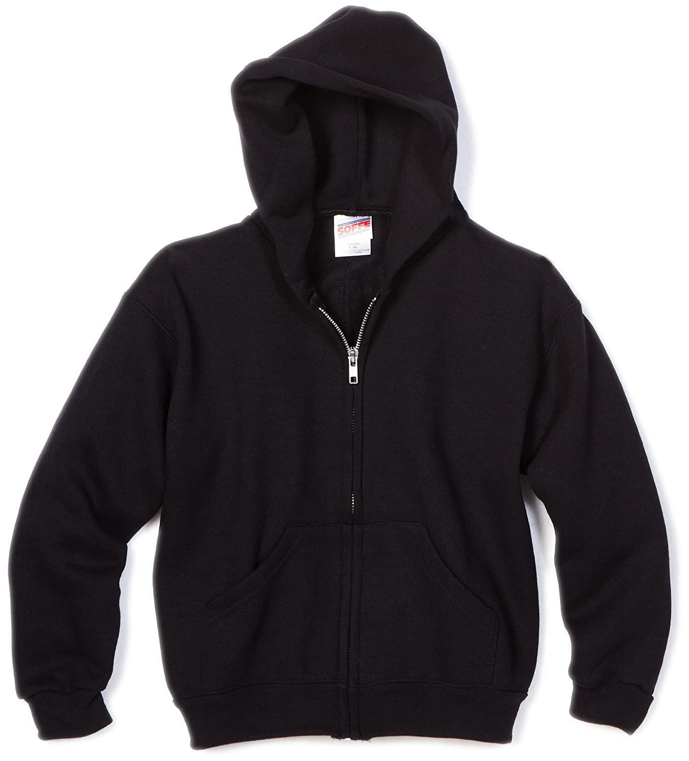 MJ Soffe Big Boys' Zip Hooded Sweatshirt