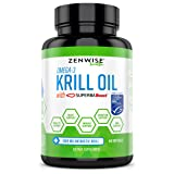 Omega 3 Antarctic Krill Oil 1000mg - MSC Certified Sustainable SuperbaBoost™ - With EPA & DHA Fatty Acids & Astaxanthin - Heart, Brain, Skin, Joint & Immune Support - 60 Softgels