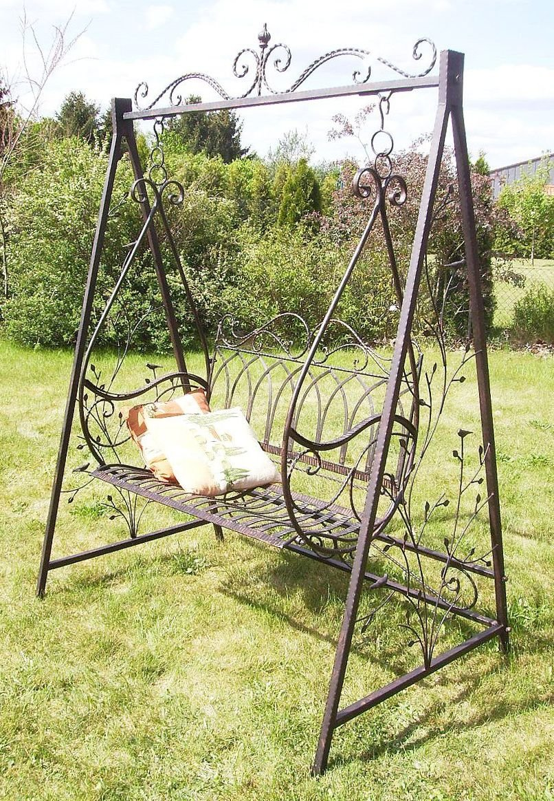 schaukel hollywoodschaukel gondel 1868 aus metall schmiedeeisen gartenschaukel garten. Black Bedroom Furniture Sets. Home Design Ideas