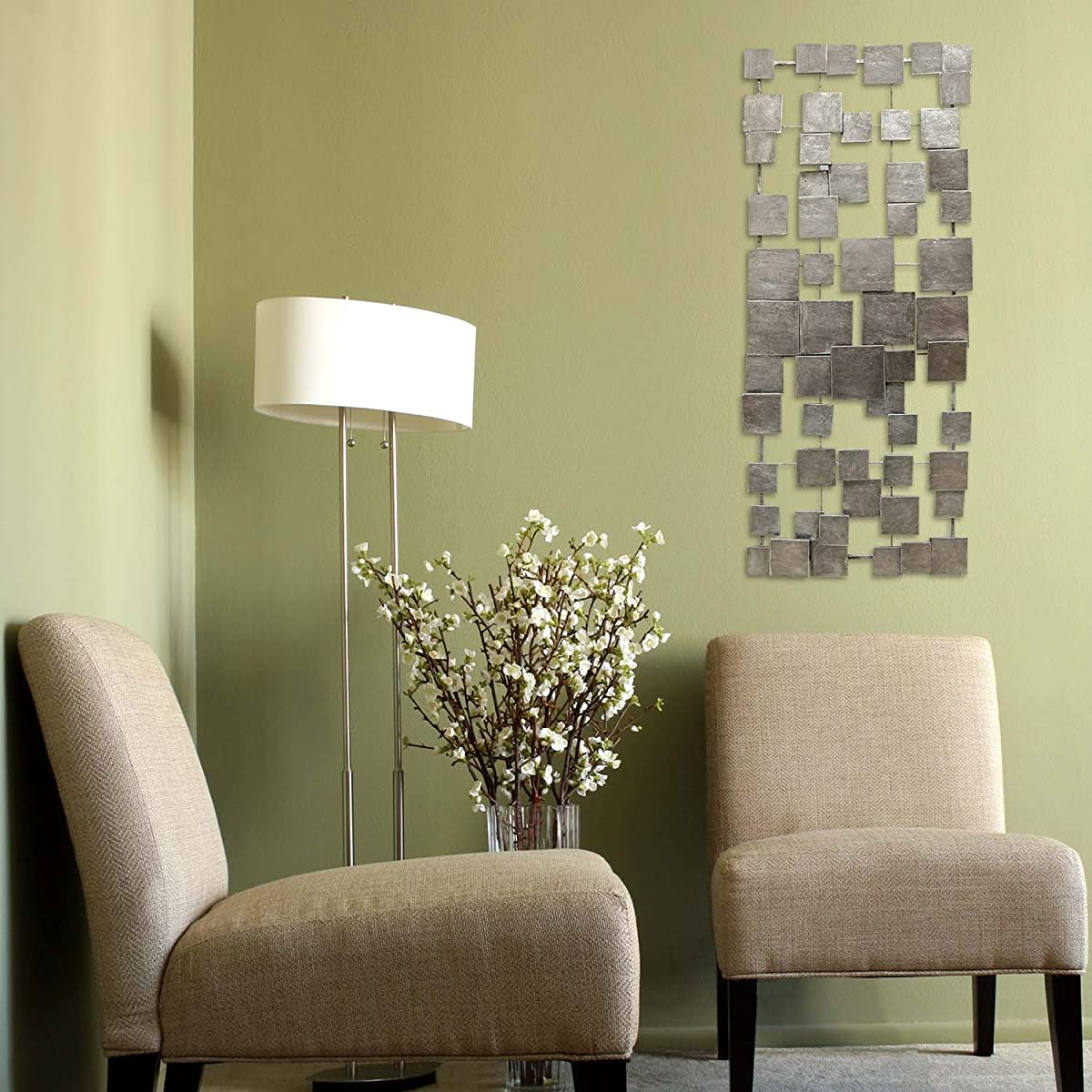 Stratton Home Decor SHD0211 Geometric Tiles Wall Decor
