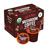 Four Sigmatic Mushroom Kcup - Organic and Fair Trade Coffee Pods with Chaga and Cordyceps Mushrooms - Vegan, Paleo - Recyclable KCups - 12 Count