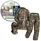 HECS Suit Deer Hunting Clothing with Human Energy Concealment Technology - Camo 3 Piece Shirt, Pants, Headcover - Lightweight Breathable in Mossy Oak Country & Realtree Xtra | Mossy Oak, 3X-Large