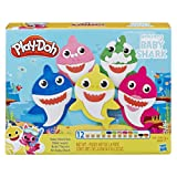 Play-Doh Pinkfong Baby Shark Set with 12 Non-Toxic Cans (Color: Brown/a)