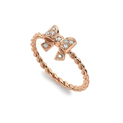 Roberto Marroni 18 ct Rose Gold Bow Ring