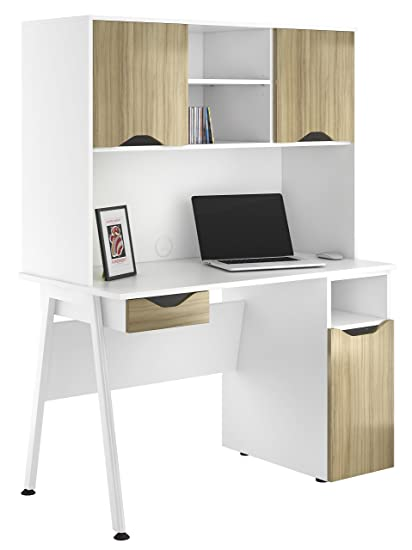 Kit Out My Office UCLIC A Frame Desk Drawer with Base and 2 Door Upper Storage, Metal, Light Olive, 1200 mm