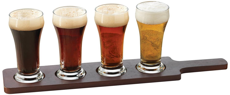 libbey craft brews beer flight 6 ounce clear pilsner glass. Black Bedroom Furniture Sets. Home Design Ideas