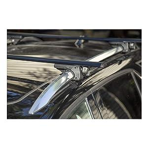 CURT 18118 53-3//8-Inch Black Aluminum Universal Roof Rack Cross Bars 2-Pack