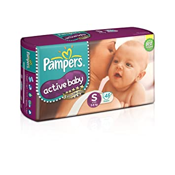 Image result for Pampers Active Baby Small Size Diapers (46 Count)