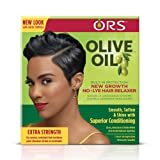 ORS Olive Oil Built-In Protection New Growth No-Lye Hair Relaxer - Extra Strength (Pack of 2) (Tamaño: Pack of 2)