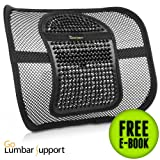 Lumbar Support Chair Cushion [UPGRADE VERSION] for Office Car Seat Home Desk - Therapeutic Lower Back Pain Fatigue Relief - Breathable Mesh Adjustable Straps Ergonomic Design eBook Guide