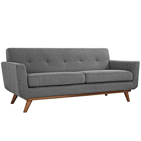 LexMod Engage Upholstered Loveseat, Expectation Gray