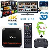 LCBOX Toronto-store X96 Mini Android TV Box With 1GB RAM 8GB ROM Amlogic Quad Core A53 processor 64 bits Real 4K Playing, Free Mini Keyboard