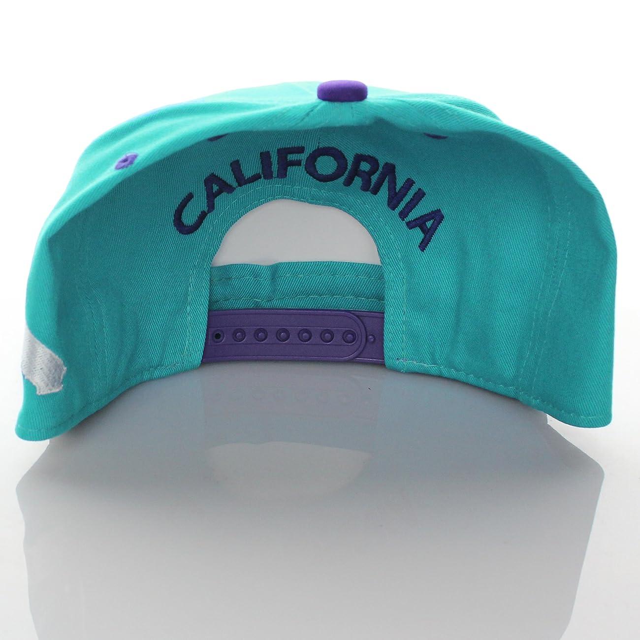 California Republic Flat Bill Vintage Style Snapback Hat Cap 3