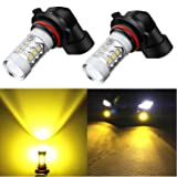 Alla Lighting High Power 3030 SMD New Version Xtremely Super Bright 9006 HB4 LED Bulb Gold Yellow LED Fog Light Bulbs Lamps Replacement (Tamaño: 9006 HB4)