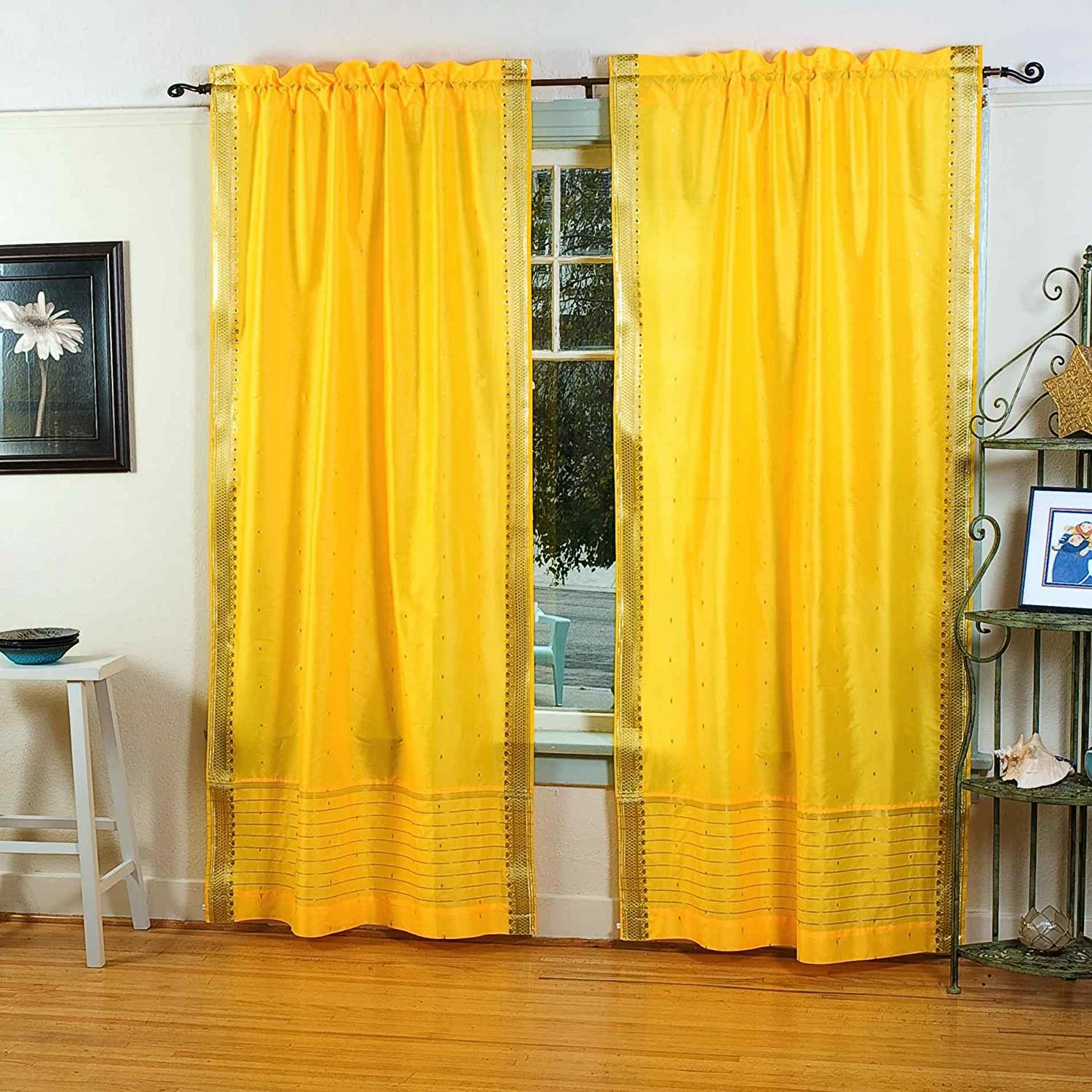 Grommet Curtains, Yellow Curtains
