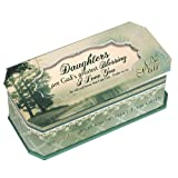 Daughters Are God's Greatest Blessing Be Still Petite Belle Papier Musical Keepsake Jewelry Box - Plays Song Amazing Grace (Color: green, Tamaño: 7.5 x 4 x 3 inches)