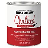 Rust-Oleum 329211 Chalked Ultra Matte Paint, 30 oz, Farmhouse Red (Color: Farmhouse Red, Tamaño: 30 oz)