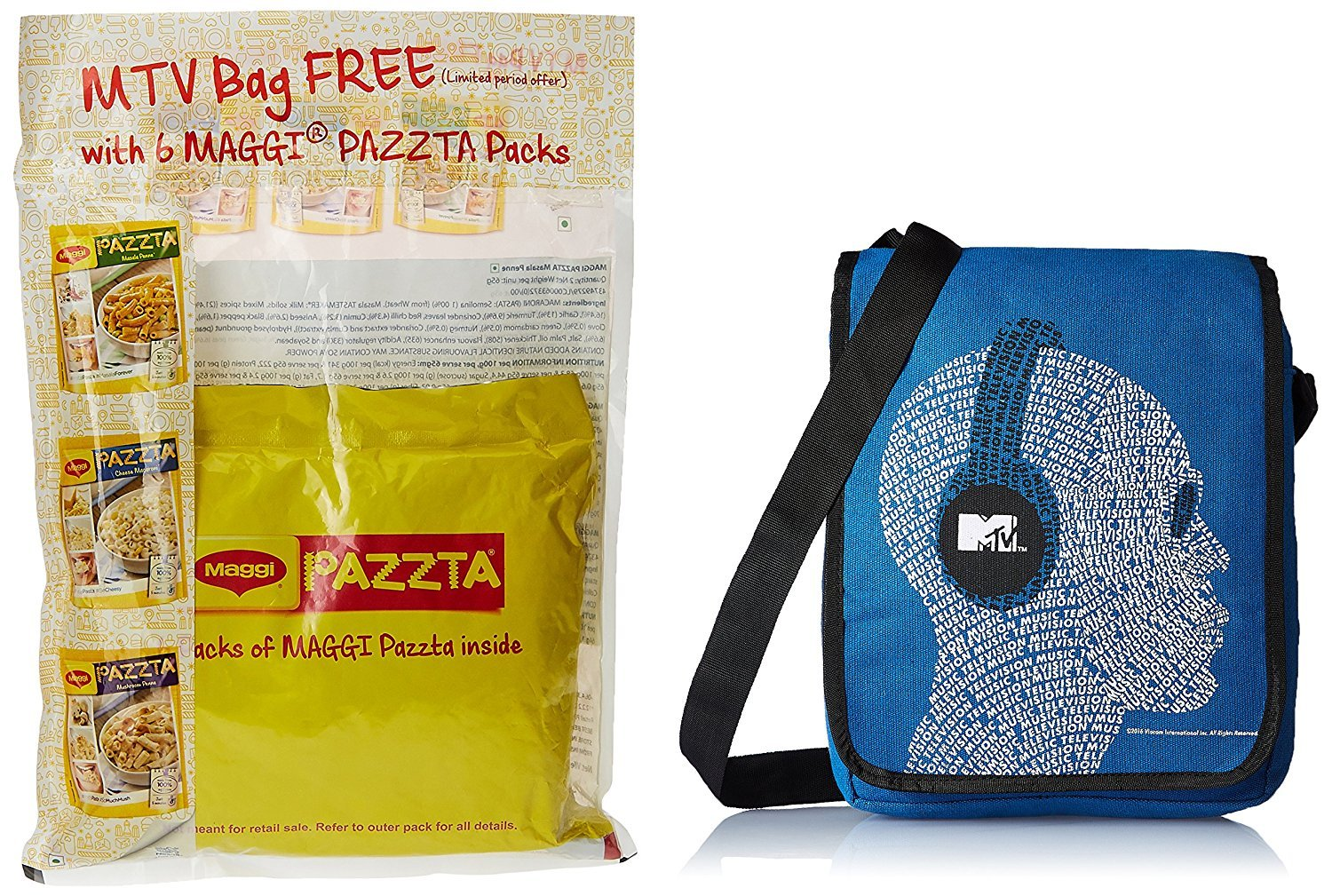 Free MTV Bag with Maggi Pazzta
