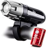 Cycle Torch Shark 550R USB Rechargeable Bike Light Set, Removable Battery- Free USB LED Tail Light - Bicycle Light - Easy Install & Quick Release (Color: Silver-Grey)