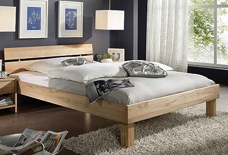 Doppelbett Bett 'Lewis' 200x200cm Kernbuche massiv geölt Holz