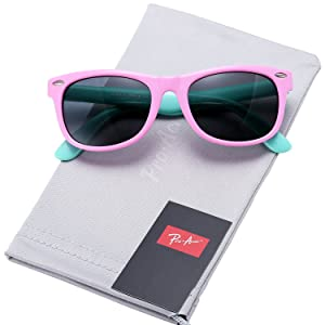 b2d0775d42 Pro Acme TPEE Rubber Flexible Kids Polarized Sunglasses for Baby and Children  Age 3-10 (Pink) ...