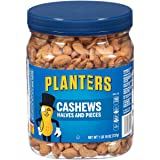 Planters Cashew Halves & Pieces, Salted, 1 Pound and 10 Ounce (Tamaño: 1LB 10 Ounces)