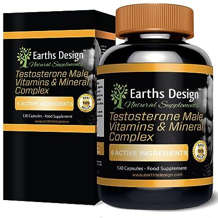 Testosteron Booster und Libido Booster – Die Naturliche Art Fur Männer Testosteronspiegel und Libido zu steigern, Hoch Potentes Nahrungsergänzungsmittel zum Muskelaufbau – Hergestellt in GB - 120 Kapseln