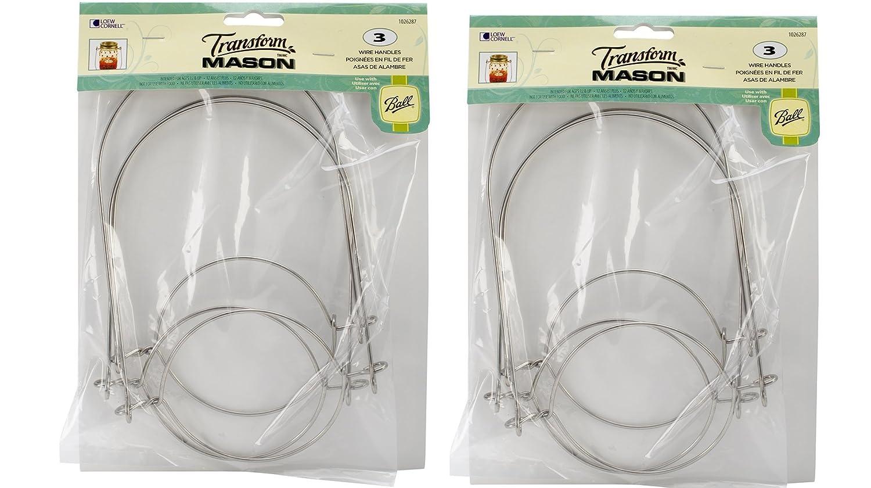 все цены на Loew-Cornell Mason Ball Jar Wire Handles (Handle-Ease), 2 - 3-Packs (Total 6) онлайн