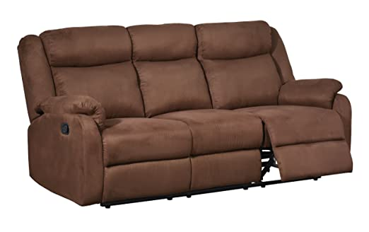 Global Furniture Reclining Sofa, Chocolate