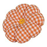 NEOVIVA Pincushions for Sewing with Wristband, Cute Wrist Pin Cushion for Daily Needlework, Style Pumpkin, Pack of 2, Plaid Lemon Chrome (Color: Plaid Lemon Chrome)