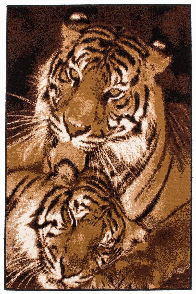 Funky 8300 Beige Teppich Teppiche Modern Design Tiger , Größe:120cm x 170cm online kaufen