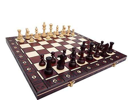 Consul, en bois massif, jeu d'échecs