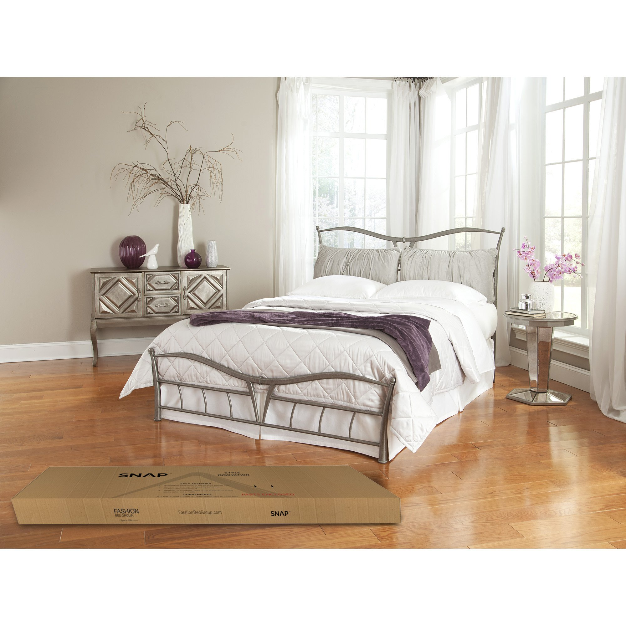 lotus snap bed with detachable headboard pillows and