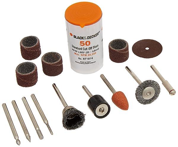BLACK?? RT1022 Rotary Tool Accessory Kit, 63-Piece