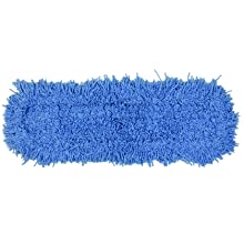 "Rubbermaid Commercial FGJ25300 Twisted Loop Blend Dust Mop, 24"" Length x 5"" Width, Blue"