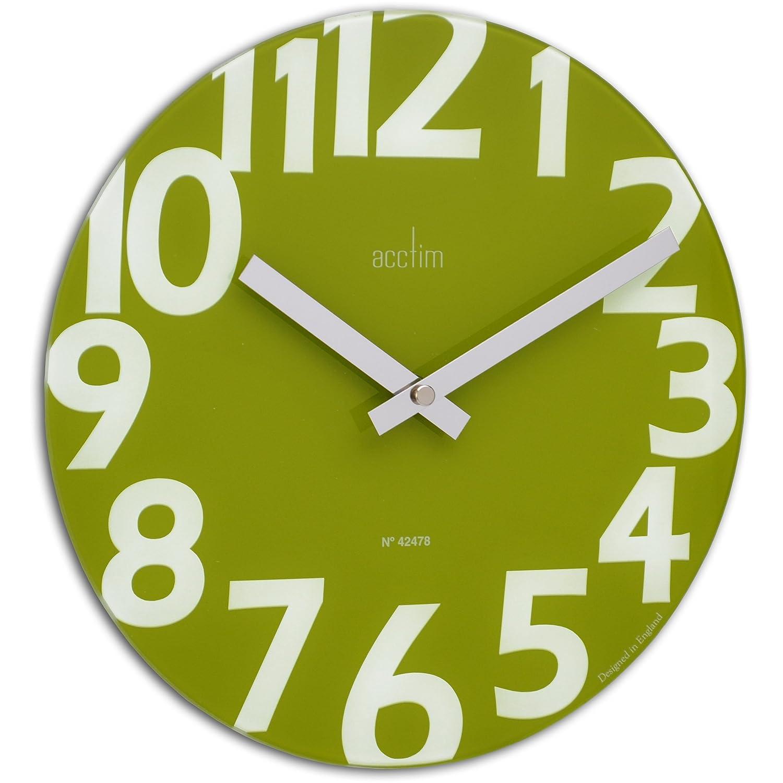 Acctim 27405 carib lime green quartz funky wall clock ebay for Green wall clocks uk