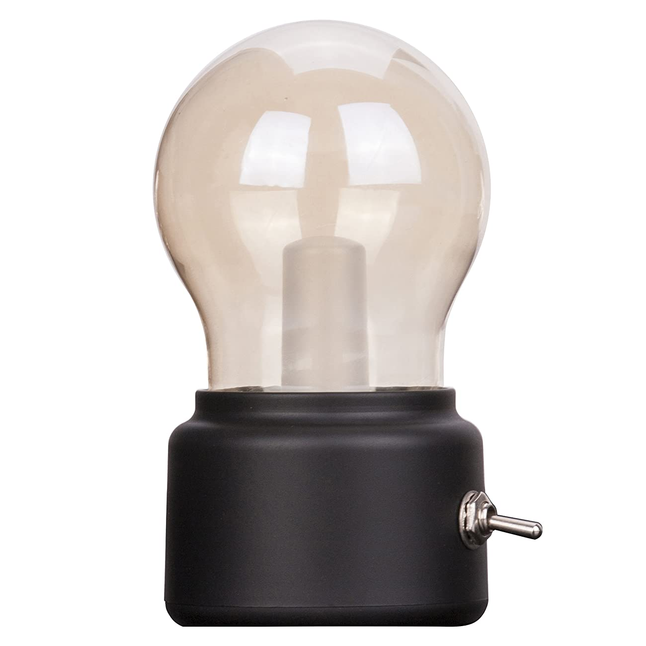 Veesee LED Vintage Light Bulb Rechargeable Night Light Safety USB Energy Saving Low Voltage Portable for Home Desk Table Tea Travel (Black) 0