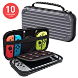 Nintendo Switch Carrying Case Protective Hard Shell Slim Travel Carry Case - Dark Gray - Nintendo Wii; GameCube