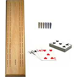 Generic Deluxe Competition Sprint 2 Track Board Cribbage Set (Solid Wood)