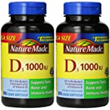 Nature Made Vitamin D3 1000 IU Value Size 300-Count Liquid SoftGel (2 Pack)