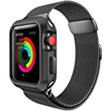 For Apple Watch Band 42mm Milanese Loop Metal Strap for iWatch Bands Black Color (Color: A-42mm black)
