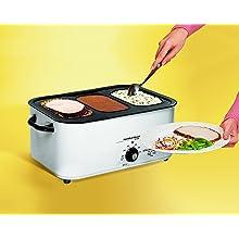 Hamilton Beach 32182 18-Quart Roaster Oven with Buffet Pans, White