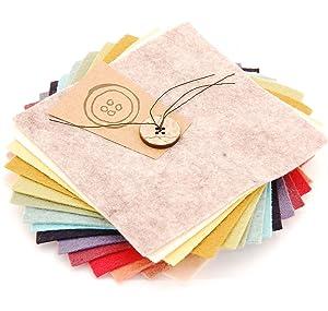 The Button Company - Conjunto de muestras de fieltro (15 x 15 x 15 cm, forma cuadrada), colores vintage   revisión y más noticias