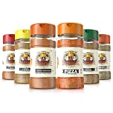 Flavor God Seasonings - Meal Prep Combo - Everything Spicy, Garlic Lovers, Lemon Garlic, Pizza, Buffalo, and Chipotle (Gluten Free, GMO Free, MSG Free, Low Sodium, Paleo Friendly)