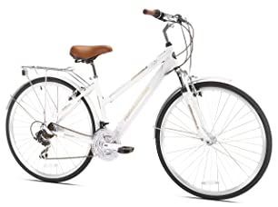 Northwoods Ladies Springdale 21 Speed Hybrid Bicycle, White