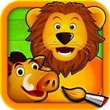 Savane - Puzzle, Couleurs et Dessins pour Enfants, Jeux de Coloriage et Peinture avec les Animaux...